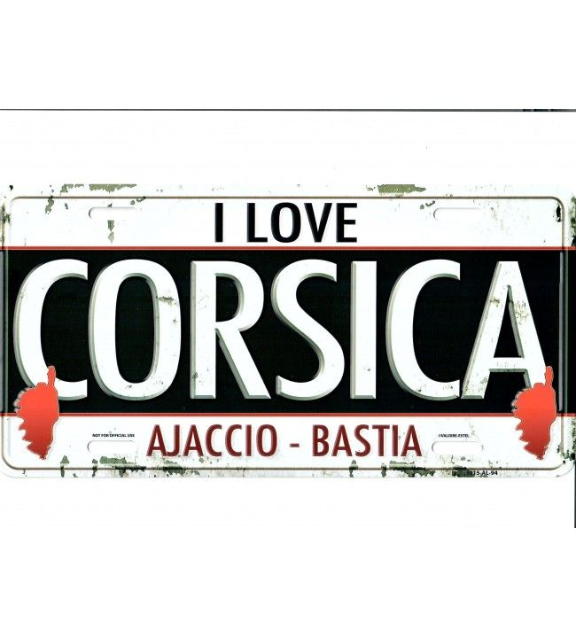 Plaque métal Love CORSICA