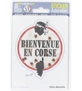 Sticker welkom op Corsica