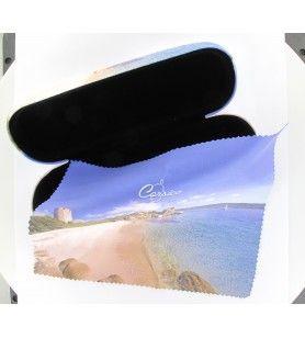 Etui à lunettes rigide avec chiffonnette décor tour génoise