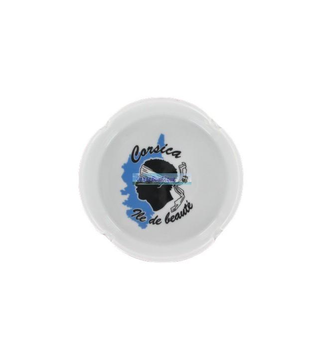 Round ashtray Moorish head and island