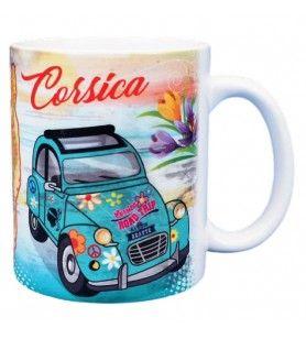 Mug Corsica white vintage décor 2 CV