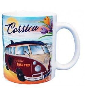 Mug Corsica blanc vintage décor Combi