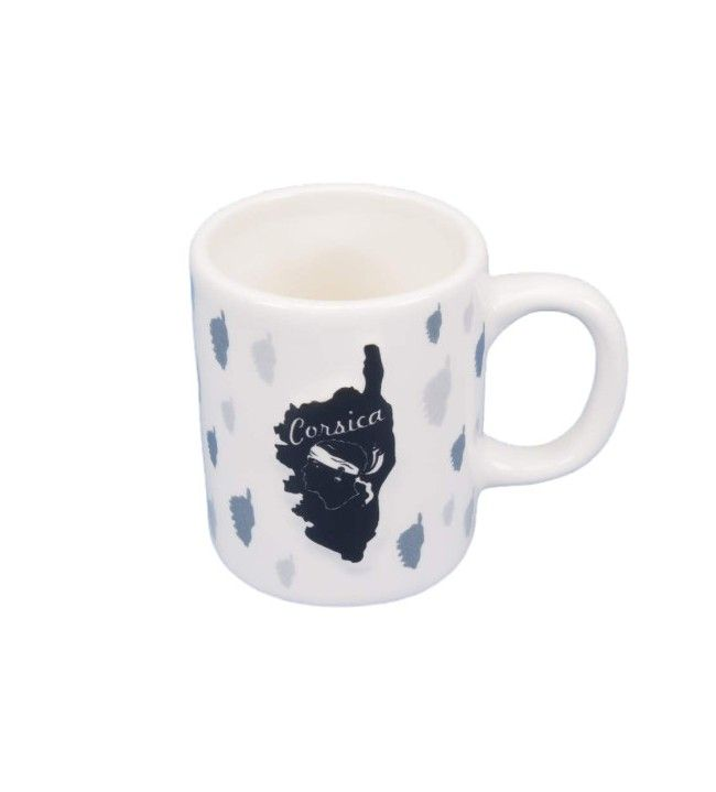 Tasse à café relief Carte et  tête de maure
