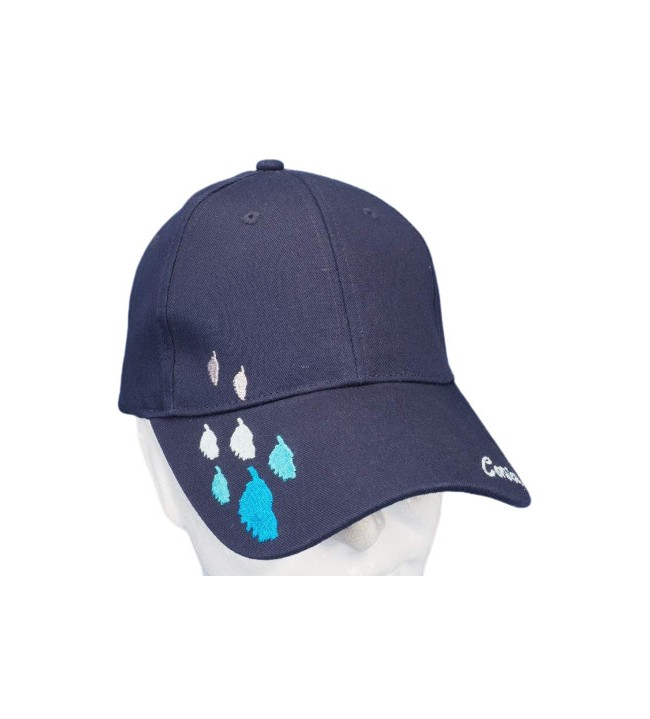 Embroidered blue island cap