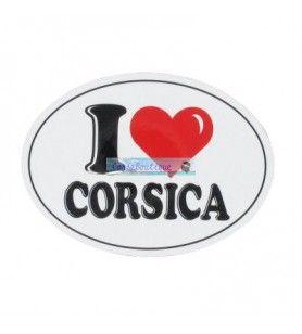 Aufkleber Ich liebe Korsika großes Modell D