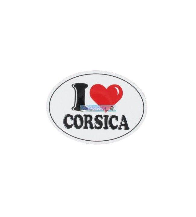 Autocollant I love Corsica GM D
