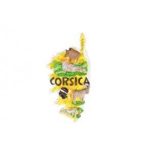 Magnet Découpé Ile Corsica