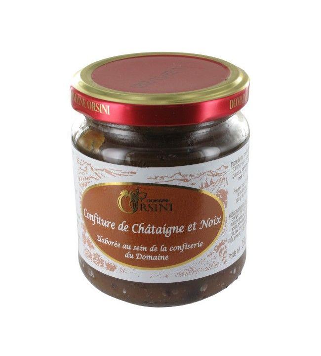 Confiture de Chataigne et Noix 250 gr Orsini