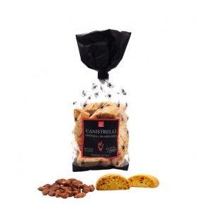 Canistrelli Petites Corses Mandorle caramellate 250g  - Canistrelli con scaglie di mandorle caramellate 250g