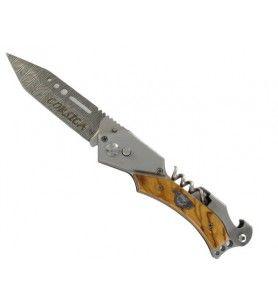 Couteau automatique 23 cm lame gravée laser