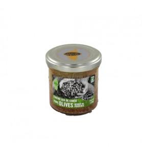 Tapas biologische groene olijven, amandelen Minnà 130 Gr