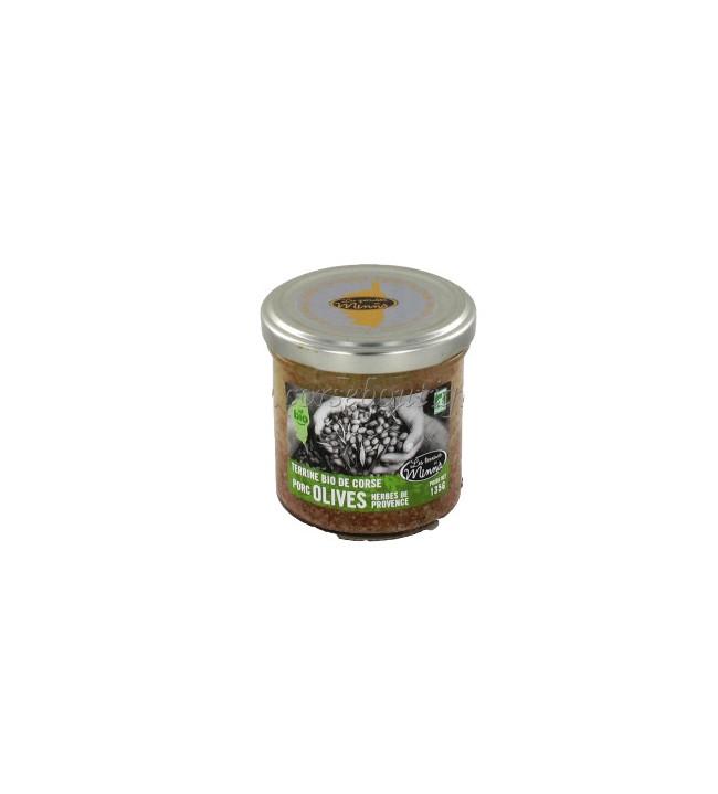 Tapas bio olives vertes amandes Minnà 130 Gr