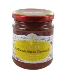 Pear jam with candied lemon 250 gr Orsini