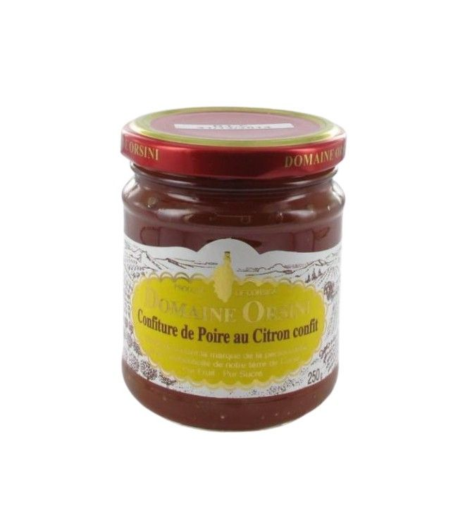 Confiture de poire au citron confit 250 gr Orsini