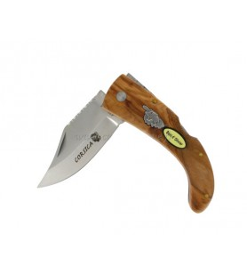 Knife Wood of Olive-18Cm Guilloche 5147