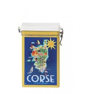 Boite métal hermétique Carte Corse