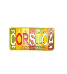 Metal magnet Corsica colours
