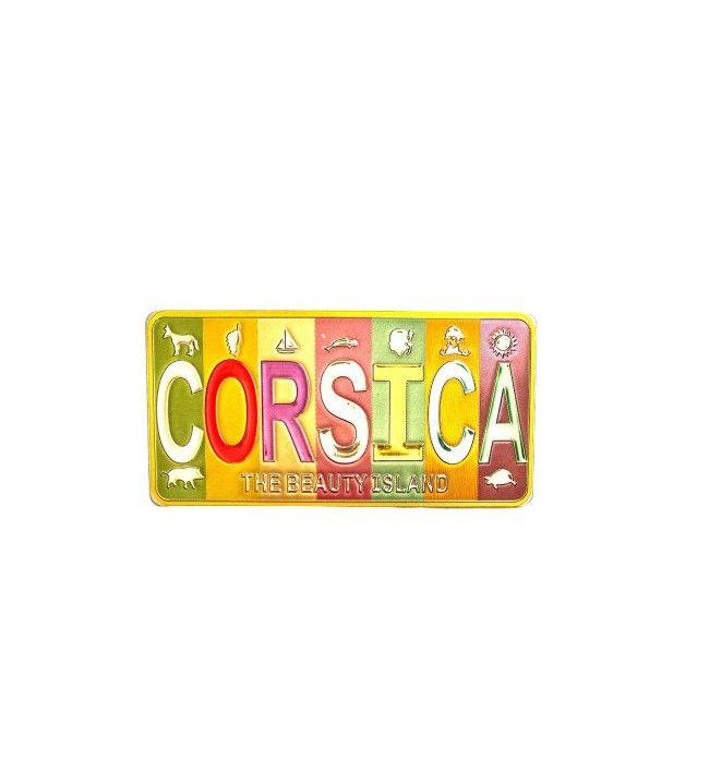 Metalen magneet Corsica kleuren