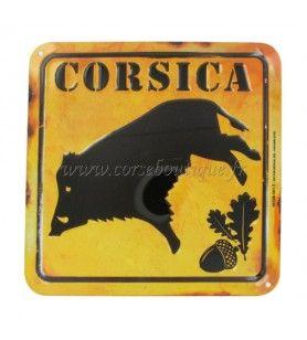 Targa Cartello Di Cinghiale Corsica