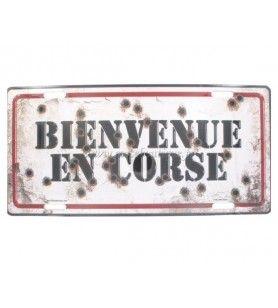 Plaque métal Bienvenue en Corse