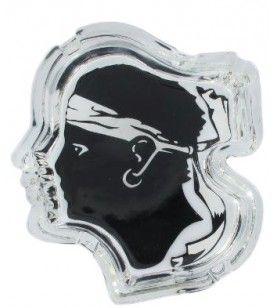 Cenicero de cristal cabeza de moro