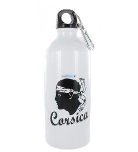 Bottiglia di acqua Alu testa di un moro Corsica