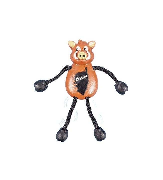 Wild boar magnet with string