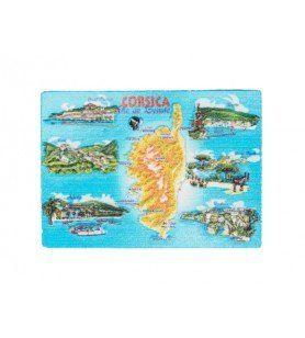 Imán impreso de la isla de Córcega
