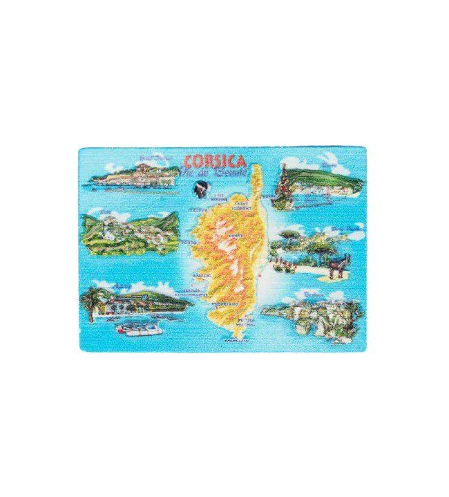 Magnet printed island Corsica