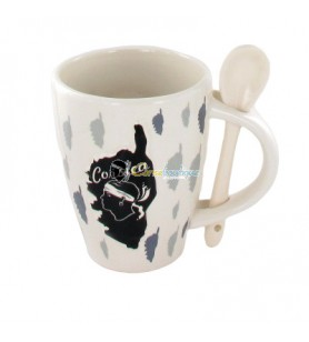 Mug with embossed spoon Corsica