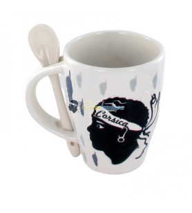 Relief mug with spoon Corsica