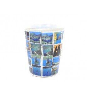 Copa Córcega isla de los tesoros  - Taza cónica con decoración de Córcega con tesoros
