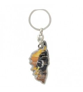 Corsican map and cities keychains