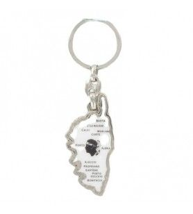 Corsica map and cities keyring  - Corsica map and cities keyring