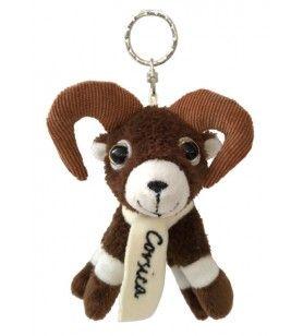 Carry keys plush mouflon scarf embroidered Corsica 7.4