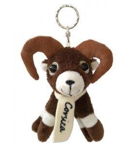 Plush sheep key ring