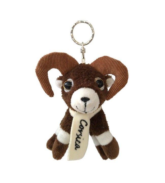 Porte clés peluche mouflon