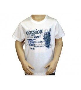 Tee Shirt Chemin Corsica child  - T-shirt Pathway child silk-screened round neck