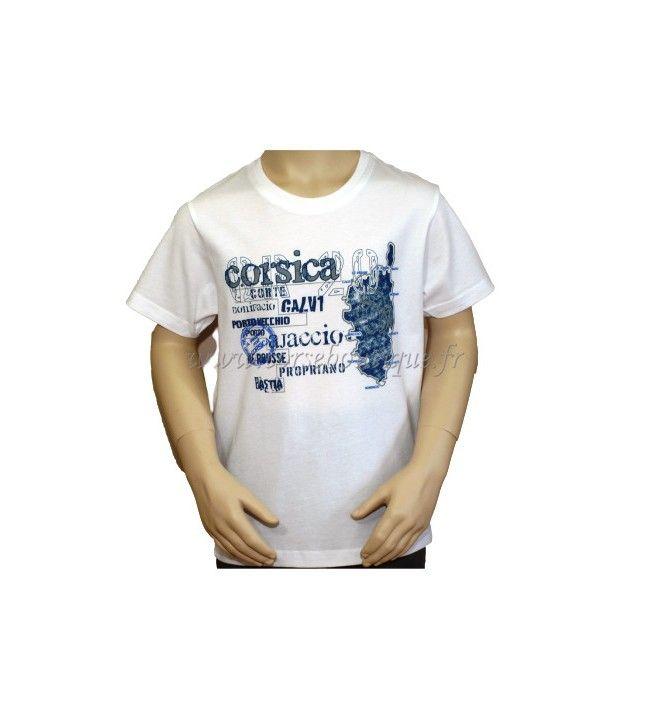 Tee Shirt Percorso Corsica bambino