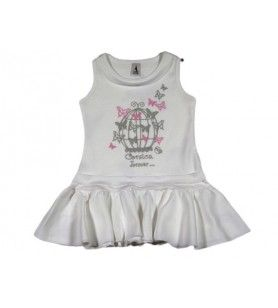 Children's Cage Dress  -  Children's Cage Dress 100% Cotton  Machine wash at 30°. Iron on the back for screen printing.