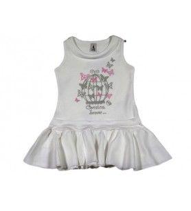 Kinderkäfigkleid  - Kinderkäfigkleid 100% Baumwolle Maschine waschen bei 30 °. Auf der Rückseite für Serigraphie.