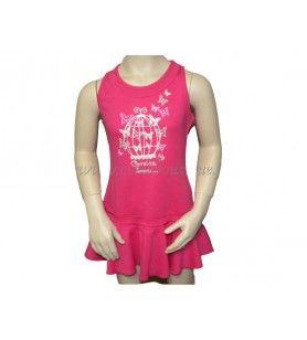 Korsika Käfigkleid  - Cage Kleid mit Siebdruck auf Korsika