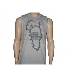 Camiseta de tirantes Côte Corsica  - Camiseta de tirantes serigrafiada para adultos 100% algodón