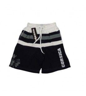 Pantaloncini da bagno per bambini Corsica nero