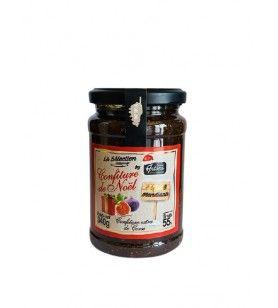 Confiture de noël à la figue et aux mendiants - 340 gr  - Cette confiture de noël à base de figue et de fruits secs est un class