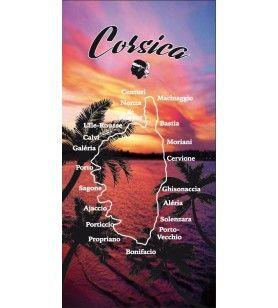Asciugamano tramonto Corsica  - Telo mare Corsica
