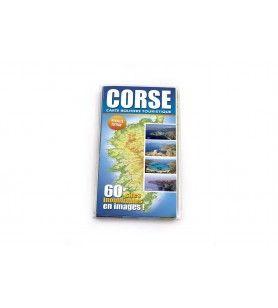 Carte routière touristique illustrée de la Corse