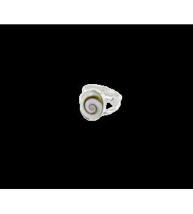 Anello ovale occhio di Santa Lucia e ossido di zirconio 36.9