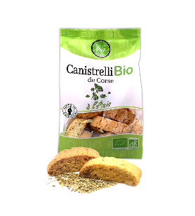 Organic Canistrelli with Anise 200g  - Organic Canistrelli with Anise 200g