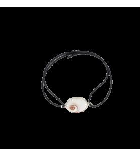 Bracelet élastique réglable et œil de sainte Lucie de méditerranée ovale  - Bracelet élastique réglable et œil de sainte Lucie d